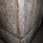 施工後の柱角面部